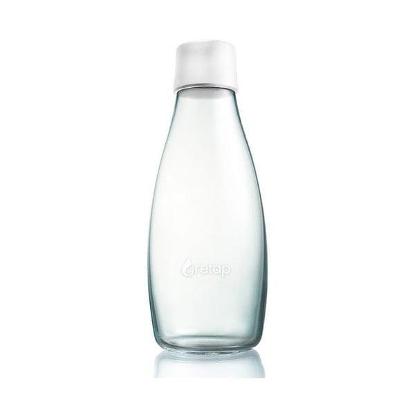 Mliečnobiela sklenená fľaša ReTap s doživotnou zárukou, 500ml