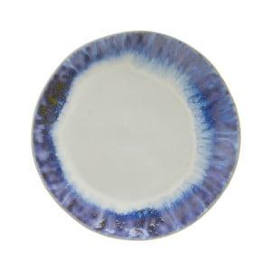 Modrobiely kameninový tanier Costa Nova Brisa, ⌀ 20 cm