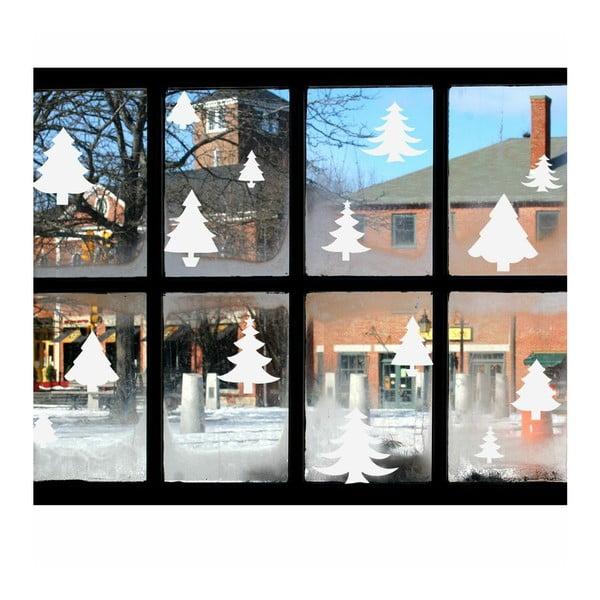 Elektrostatická vianočná samolepka Fanastick Bright White Christmas Trees