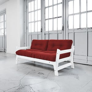 Rozkladacia pohovka Karup Step White/Passion Red