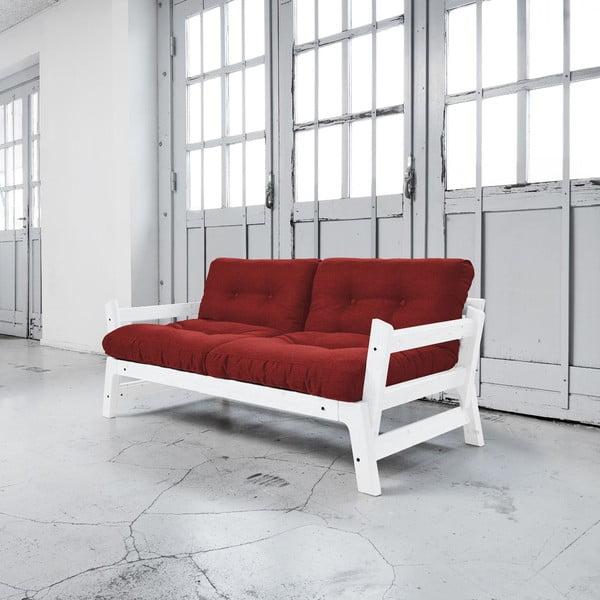 Rozkladacia pohovka Karup Step White/Passion Red