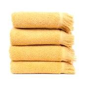 Sada 4 žltých bavlnených uterákov Casa Di Bassi Sun, 50×90cm