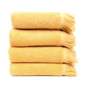 Sada 4 žltých bavlnených uterákov Casa Di Bassi Sun, 50x90cm