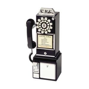 Retro funkčný telefón Black Dinner