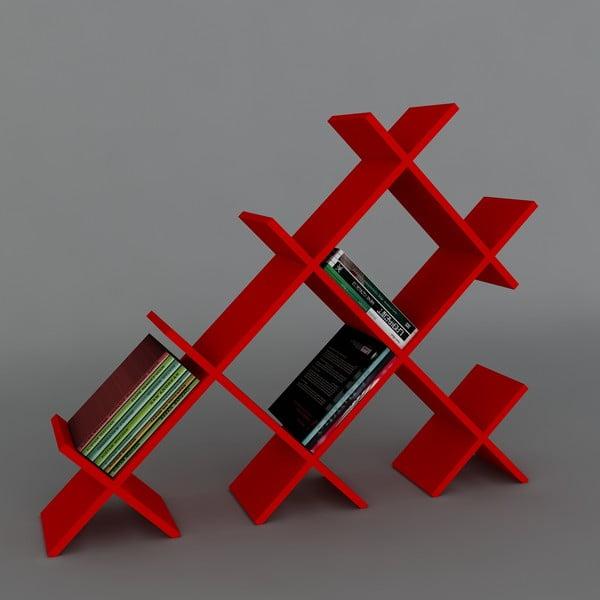 Knižnica Discuss Book Red, 22x118,1x94,5 cm