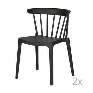 Sada 2 čiernych stoličiek WOOOD Bliss