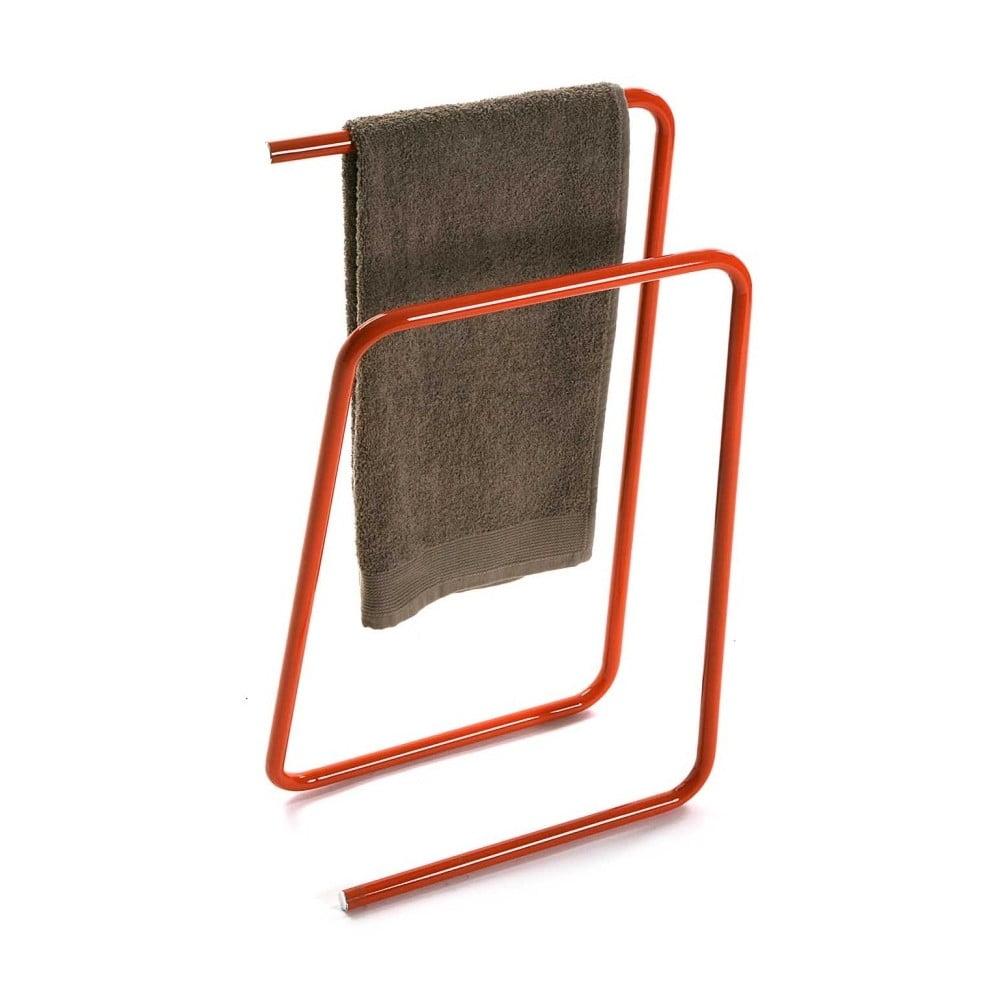 Oranžový kovový stojan na uteráky Versa