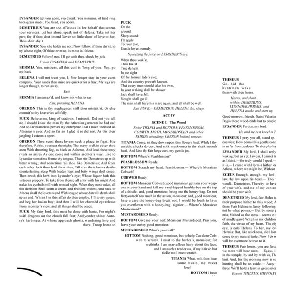 Knižný plagát Sen noci svätojánskej, 50x70 cm
