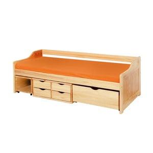 Drevená jednolôžková posteľ s úložným priestorom 13Casa Tetris, 90 x 200 cm