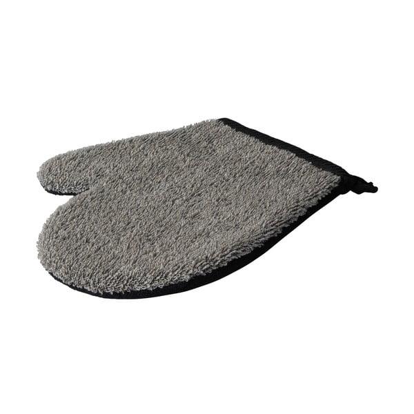 Sivá masážna rukavica do kúpeľa z konope Galzone