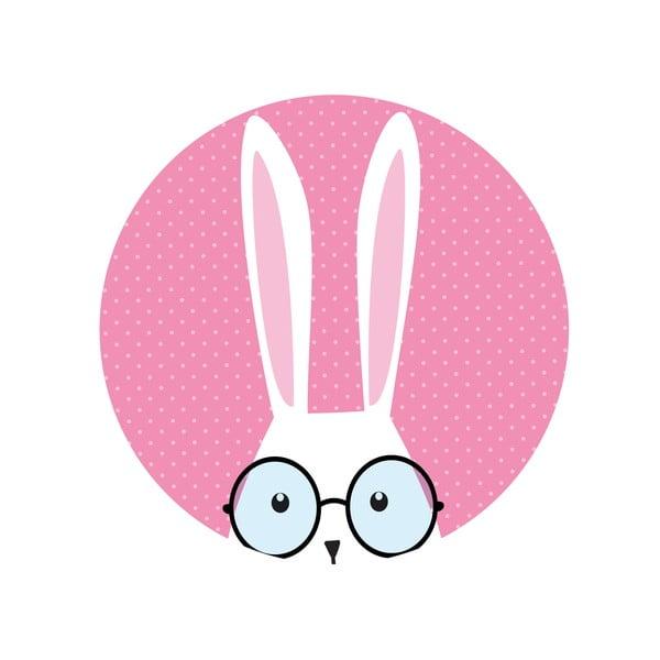 Sada 2 odkladacích stolíkov Hi Bunny, 35 cm + 49 cm