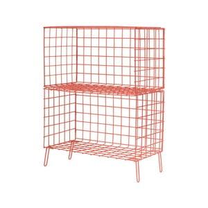 Červená kovová úložná skrinka Really Nice Things, 56×70 cm
