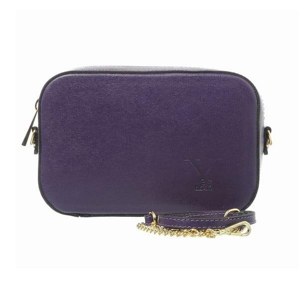 Kožená listová kabelka Little High Purple