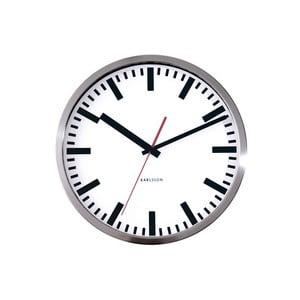 Sivé hodiny Present Time Station, malé