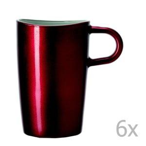 Sada 6 červených metalických hrnčekov na macchiato LEONARDO Loop, 365 ml