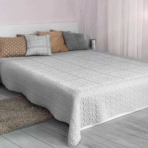 Prikrývka cez posteľ Platinum Silver, 200x220 cm