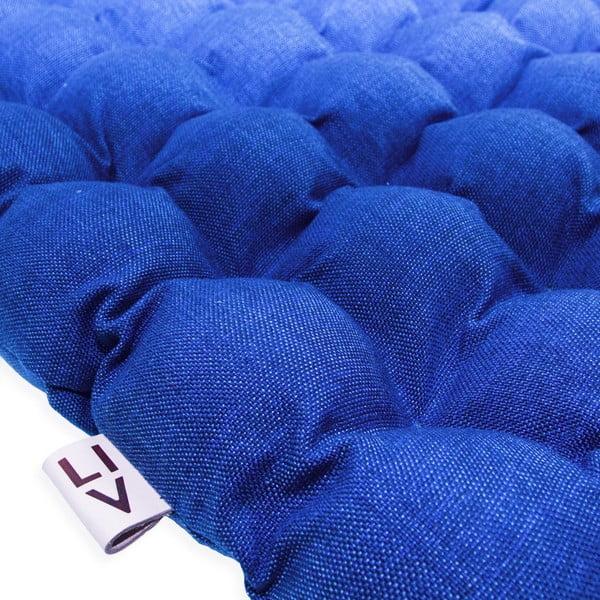 Tmavožltý vankúš na sedenie s masážnymi loptičkami Linda Vrňáková Bubbles, 65 × 65 cm