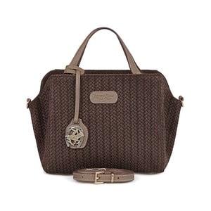 Hnedá kožená kabelka Beverly Hills Polo Club Dona