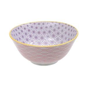 Ružovo-fialová porcelánová miska Tokyo Design Studio Star, ⌀ 15,2 cm