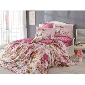 Obliečky s plachtou Rosanna Pink, 200x220cm