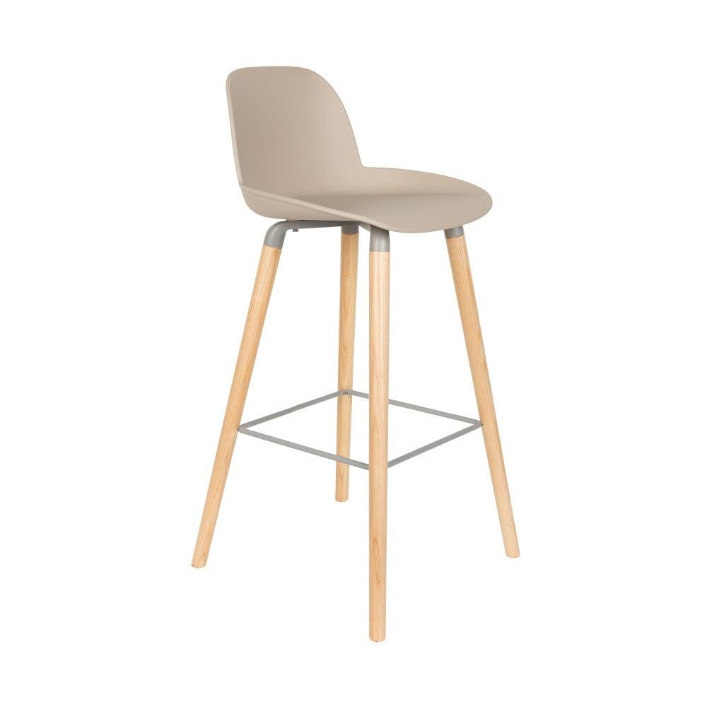 Sada 2 béžových barových stoličiek Zuiver Albert Kuip, výška sedu 75 cm