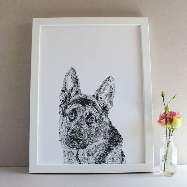 Plagát Roger the German Shepherd, 30x40 cm