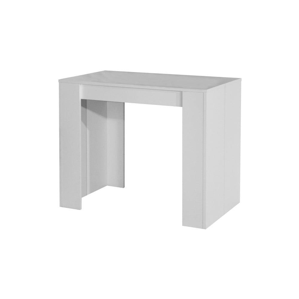 Biely rozkladací jedálenský stôl Symbiosis Elastic