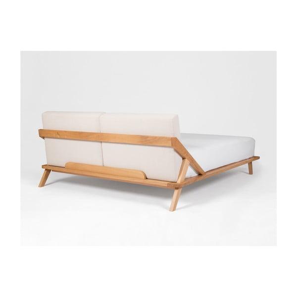 Posteľ z dubového dreva Ellenberger design Nordic Space, 200 x 200 cm