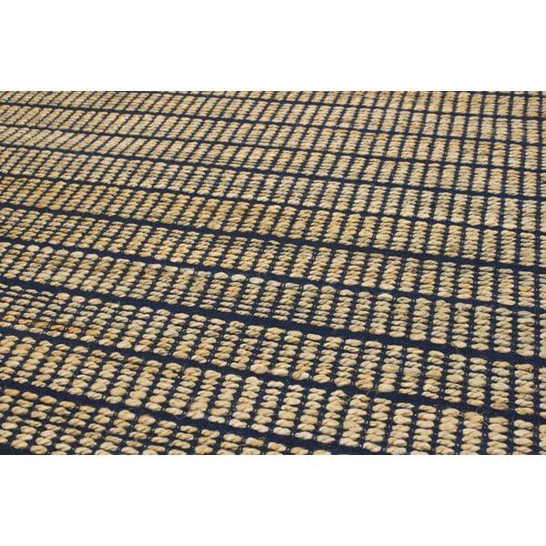 Jutový koberec Ranger Indigo, 100x150 cm