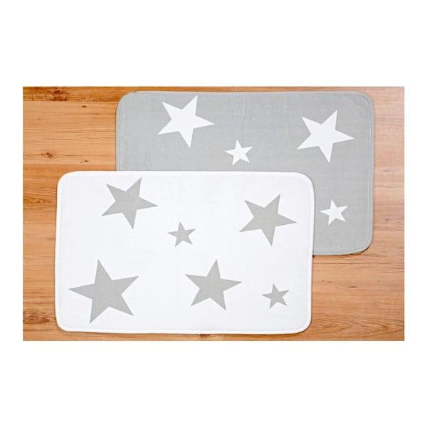 Sada 2 prestieraní Grey Star, 50x70 cm