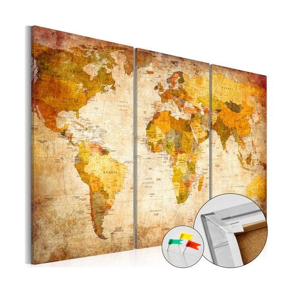 Viacdielna nástenka s mapou sveta Bimago Antique Travel 120×80 cm