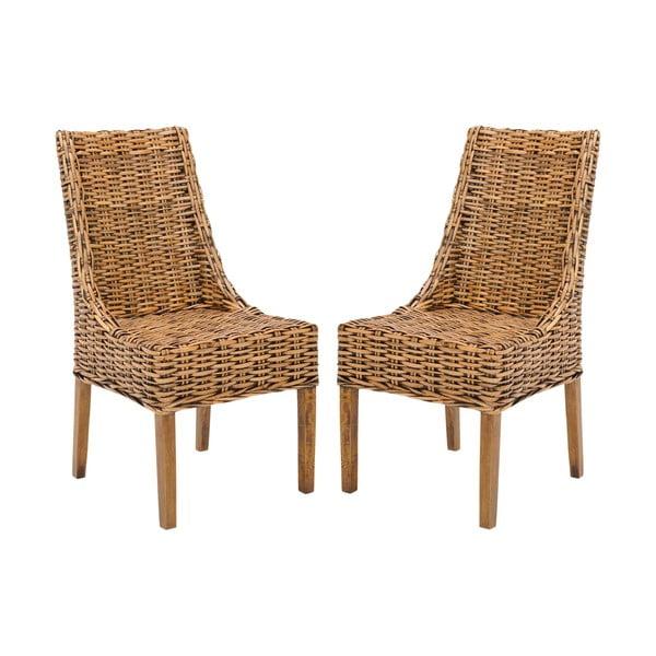 Sada 2 ratanových stoličiek Suncoast, svetlá