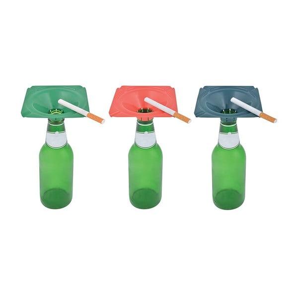 Sada 3 popolníkov na prázdnu fľašu Esschert Design Happy
