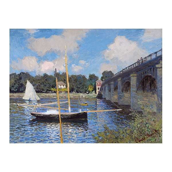 Obraz Claude Monet - The Bridge at Argenteuil, 40x30 cm