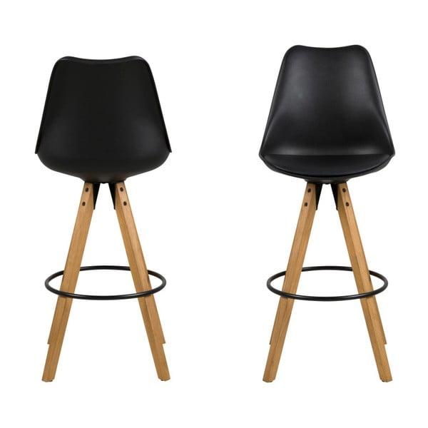 Sada 2 čiernych barových stoličiek Actona Dima