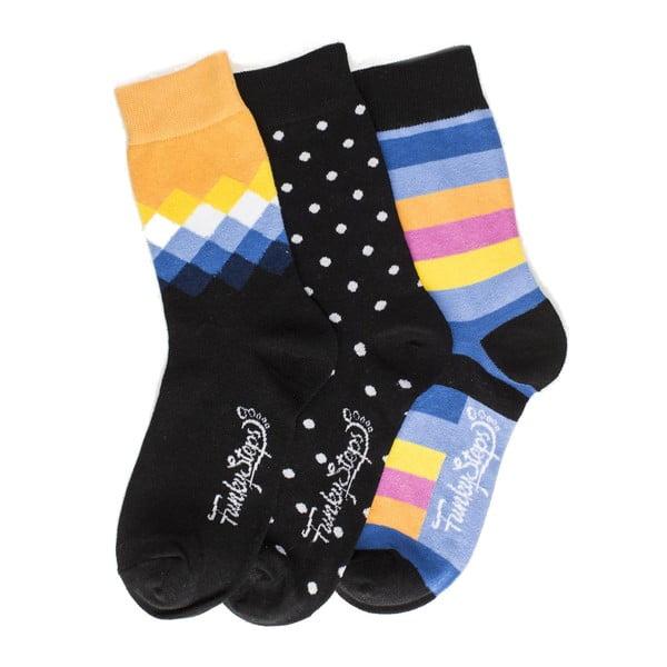 Tri páry ponožiek Funky Steps Donita, univerzálna veľkosť