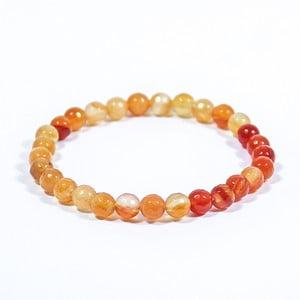 Oranžový náramok z prírodných minerálov s achátom Yogaly Temparament