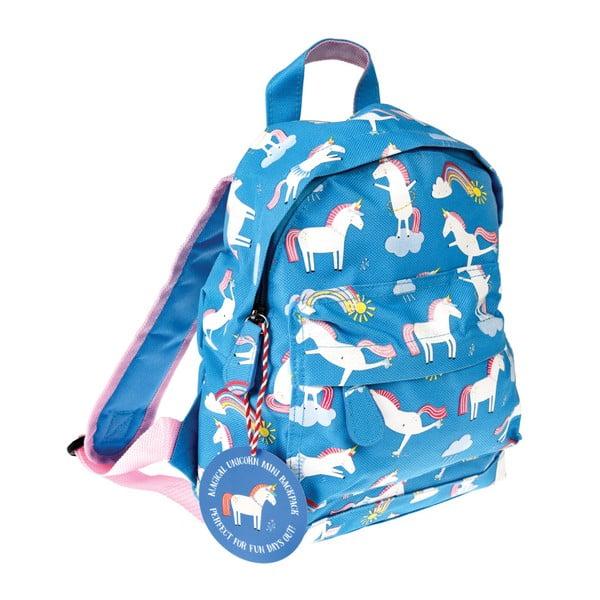 Modrý batoh s motívom jednorožcov Rex London Magical Unicorn