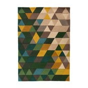 Zelený vlnený koberec Flair Rugs Prism, 120x170cm