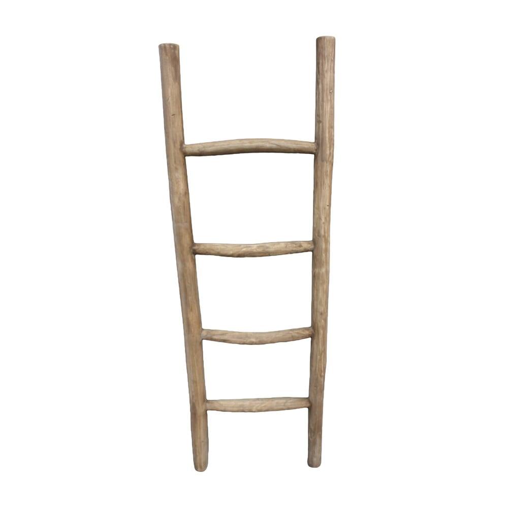 Dekoratívny rebrík z teakového dreva HSM Collection Pank