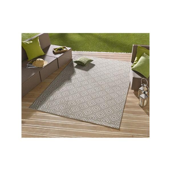 Sivý koberec vhodný aj do exteriéru Hanse Home Karo, 160x230cm