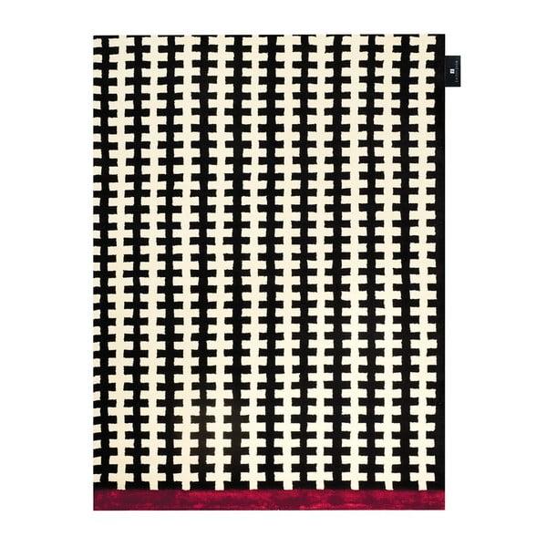 Koberec Riff Black White, 140x200 cm