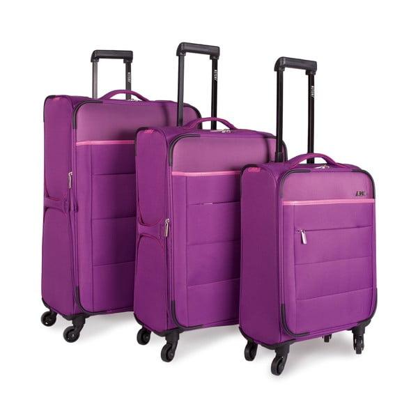 Sada 3 kufrov Jaslen, fialová