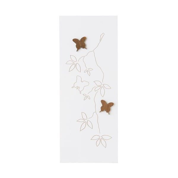 Obraz White Carving, 50x18 cm