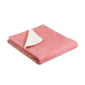 Ružová deka Unimasa Loving, 125 x 150 cm