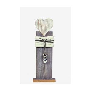 Drevená dekorácia Ego Dekor Heart, výška 36 cm