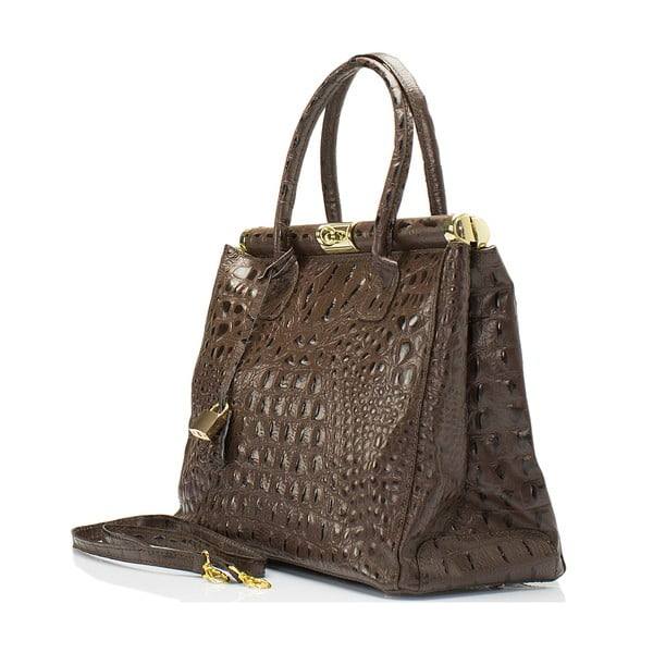 Hnedá kožená kabelka Lisa Minardi Lantha