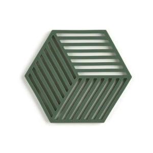 Tmavozelená silikónová podložka pod hrniec Zone Hexagon