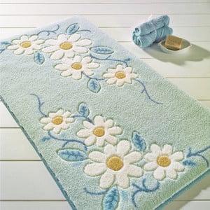 Modrá predložka do kúpeľne Confetti Bathmats Margherita, 57x100cm