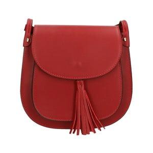 Tmavočervená kožená kabelka Roberto Buono Kara